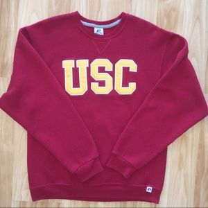 VTG USC Trojans Crewneck Sweatshirt Red Medium